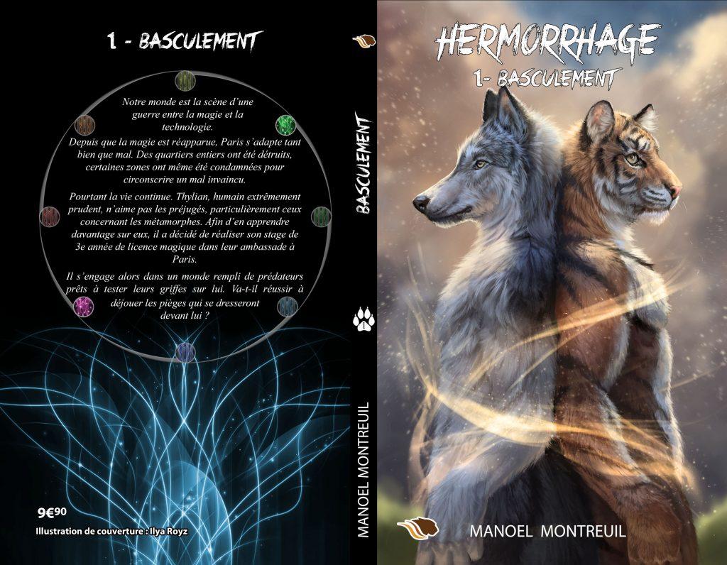 Nouvelle couverture du tome 1 Basculement, série Hermorrhage